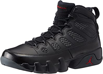NIKE Mens Air Jordan 9 Retro Bred Black/University Red Leather Size 9