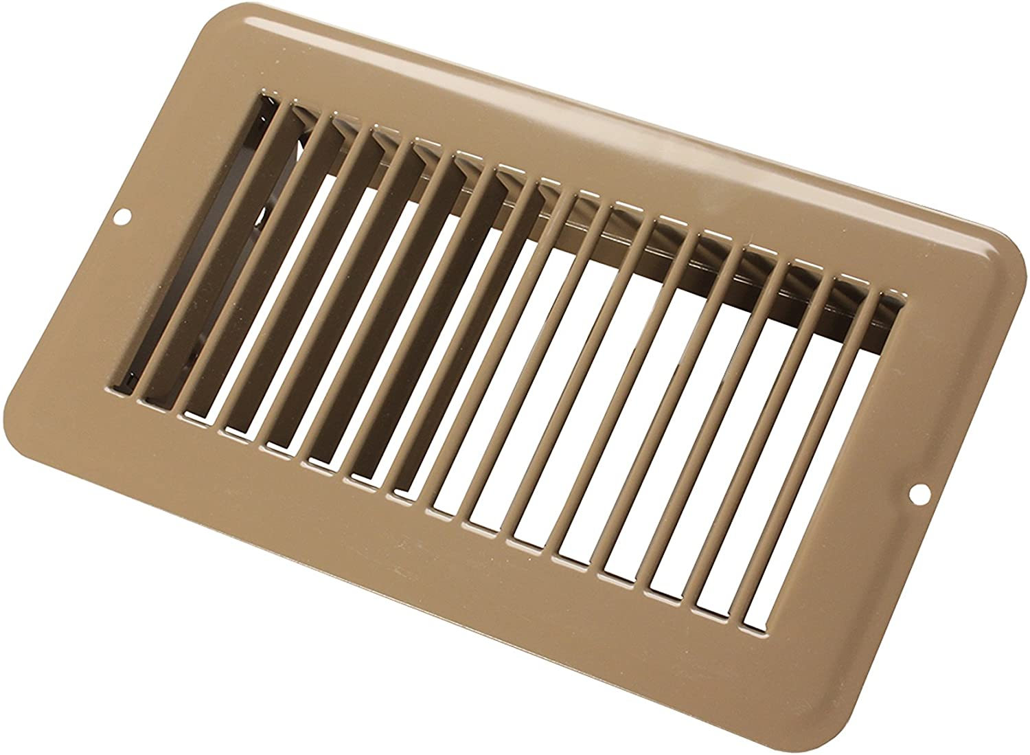 "JR Products 02-28955 Undampered Floor Register - 4"" x 8"", Brown"