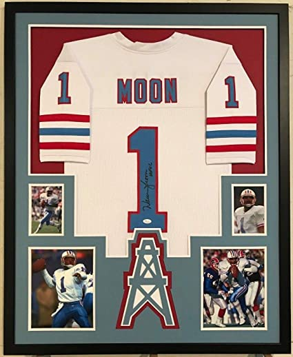 f81f233a4 FRAMED WARREN MOON AUTOGRAPHED SIGNED INSCRIBED HOUSTON OILERS JERSEY JSA  COA at Amazon's Sports Collectibles Store