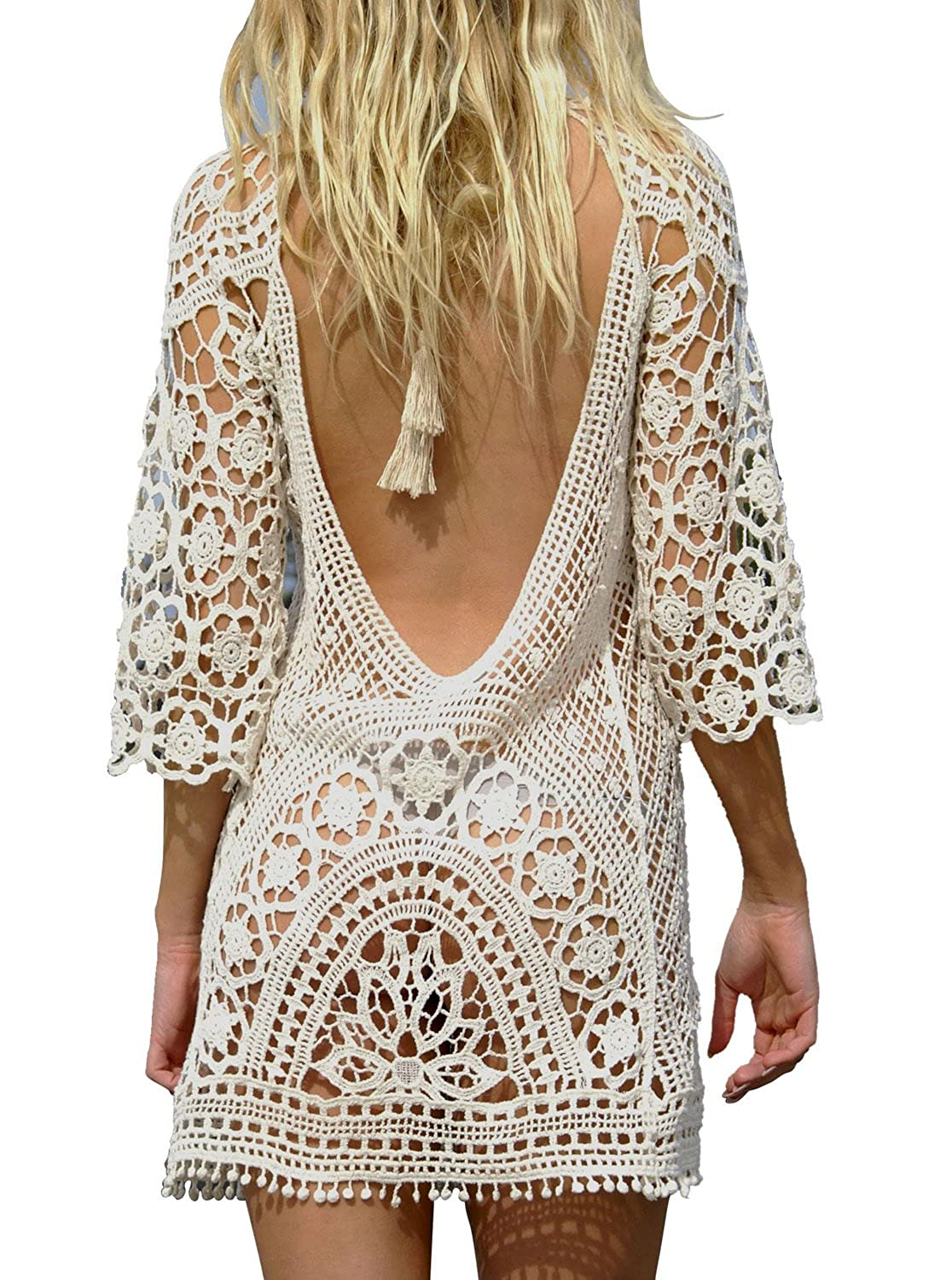Women's Clothing Lower Price with Summer Style Women Sexy V-neck Transparent See-through Loose Beachwear Bikini Smock Sunscreen Blouse Tops Beautiful And Charming