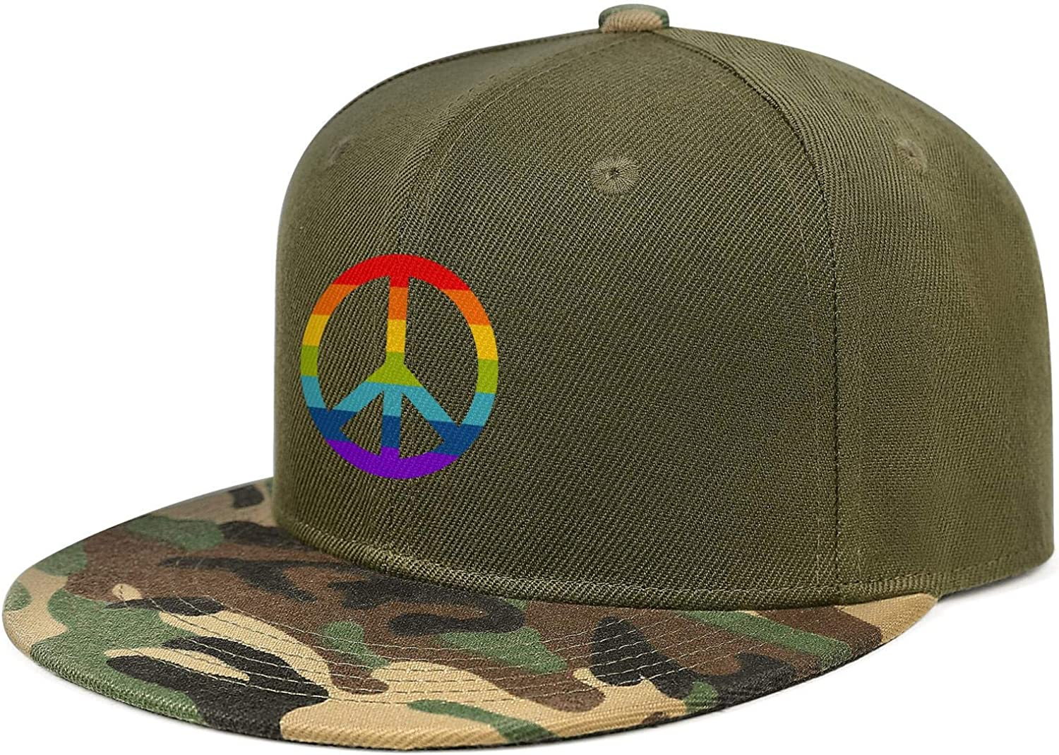 Peace Gay Pride Rainbow Colors Unisex Baseball Cap Ultra Thin Running Hats Adjustable Trucker Caps Dad-Hat