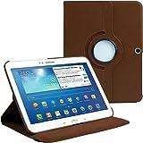 AM P5200BROWN Housse avec film de protection d'écran/stylet pour Samsung Galaxy Tab 3 Marron