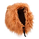 Dog Costume Lion Mane Wig, Brown