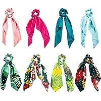 Pañuelos para el Pelo, Comius 8 Pcs Pañuelo para el cabello Scrunchies Bandas Elásticos Del Pelo Multi Patron Bufanda…