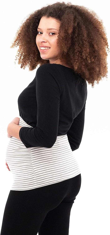 Nieren-R/ückenw/ärmer-Shirtverl/ängerung Einfarbig-Gestreift Umstands-Schwangerschafts-Bauchb/änder 6000 2er-Set Baumwolle Herzmutter Bauchband f/ür Schwangere