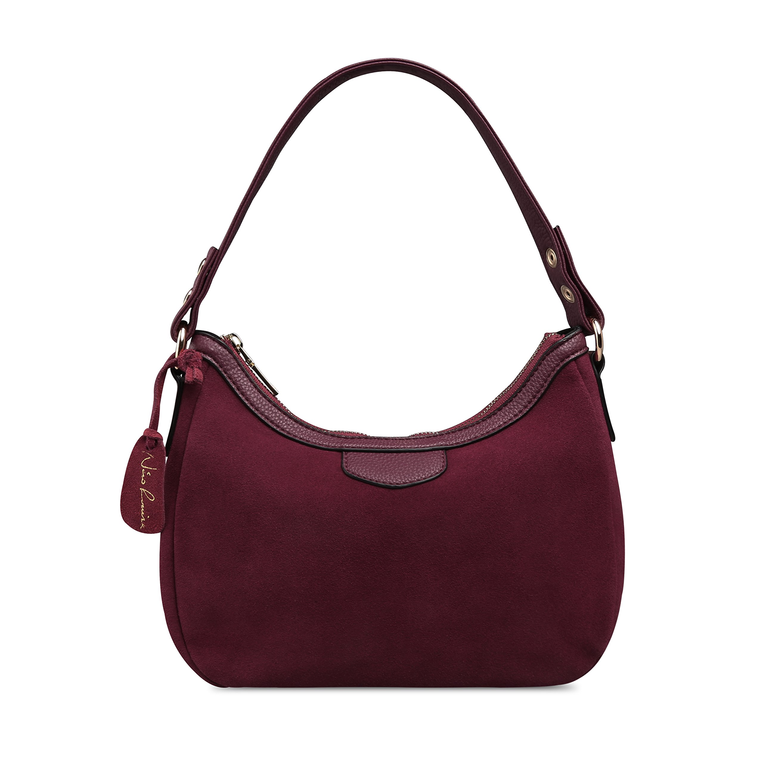 Women Real Suede Leather Small Shoulder Bag Brand Female Leisure Crossbody Handbag … (Dark Purple)