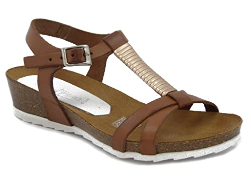 44abbab9a Raquel Perez Wedge Sandals Shoes with Leather Bottom Anatomic 3 cm ...