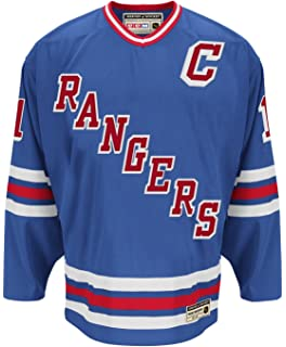 835a3c6ed adidas Mark Messier New York Rangers CCM Heroes of Hockey Authentic Blue  Jersey