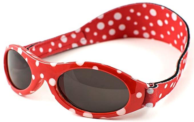 Baby Banz - Gafas de sol Ovaladas para niños, color Rojo, talla 0-2 anos