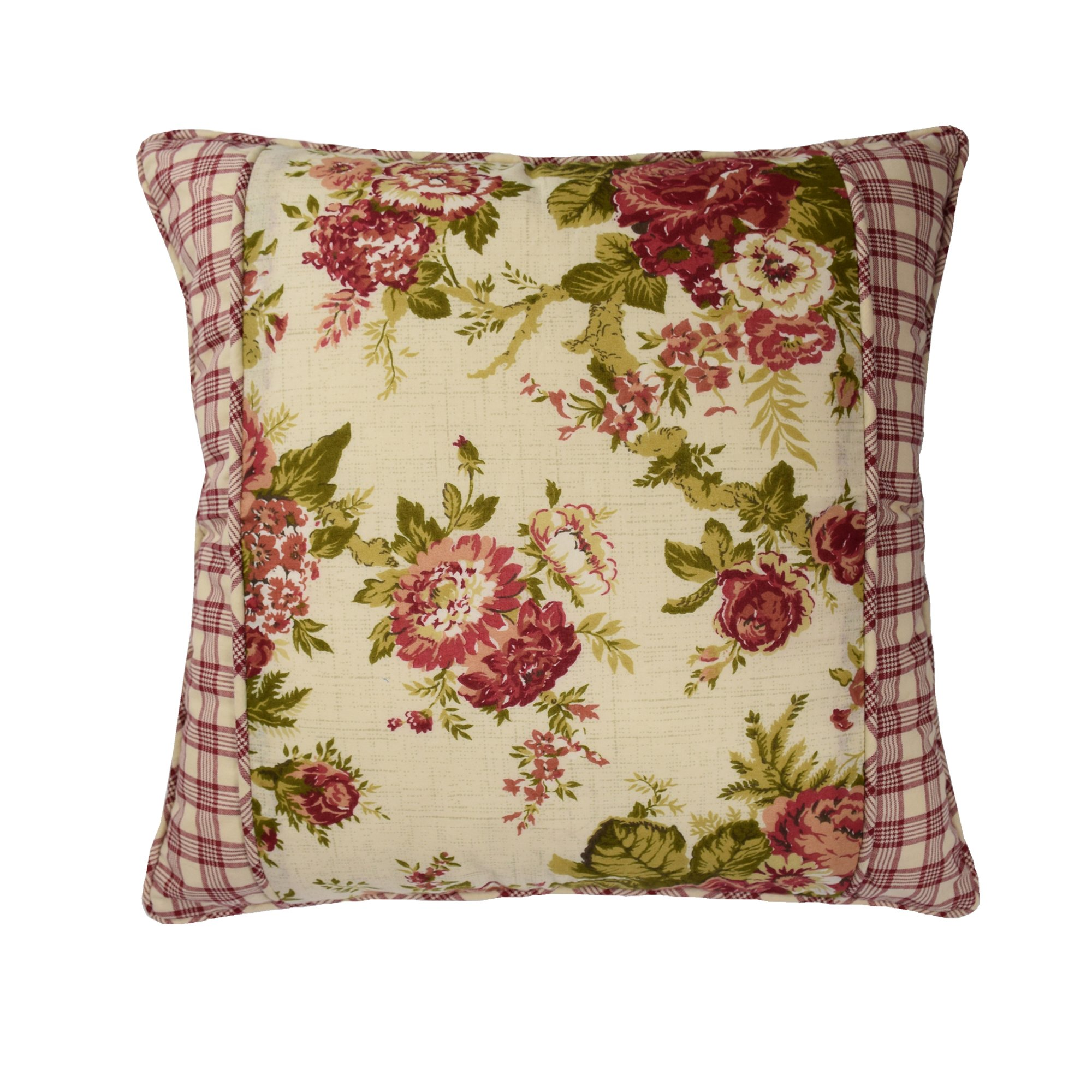 Waverly 14772018X018TSN Norfolk 18-Inch by 18-Inch Square Decorative Pillow, Tea Stain