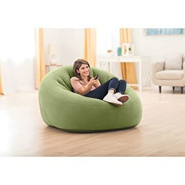 Intex Beanless Bag Club Chair, Inflatable Chair, 49