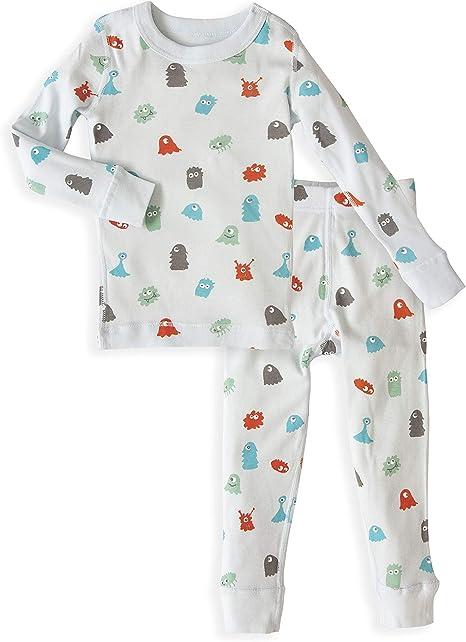 Skylar Luna - Pijama de Manga Larga para niños - 100% algodón Turco orgánico Suave - Multi Color - 4 años: Amazon.es: Ropa y accesorios
