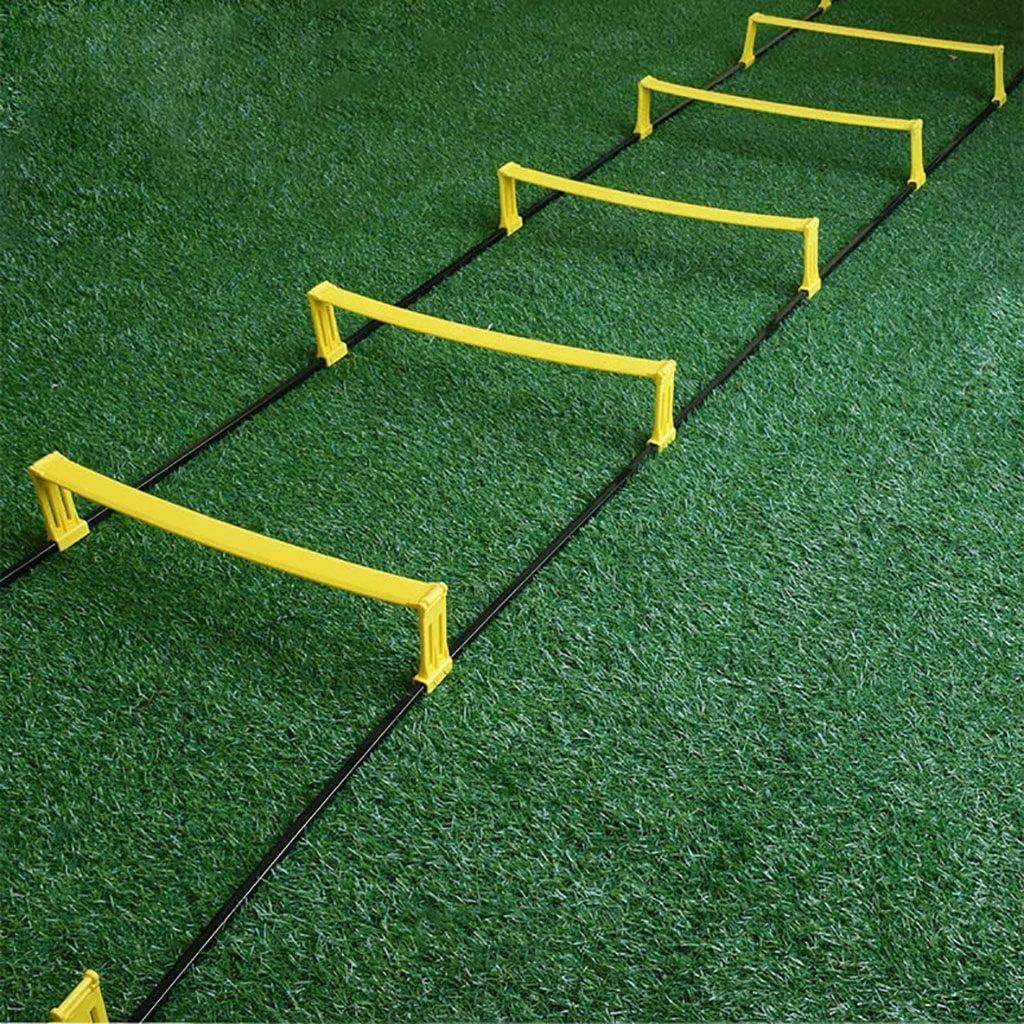 Xin Agilidad Velocidad de Salto de Escalera de fútbol Entrenamiento de la Agilidad al Aire Libre Fútbol Aptitud del pie Velocidad de Escalera Deportes de Interior 8 peldaño: Amazon.es: Deportes y aire