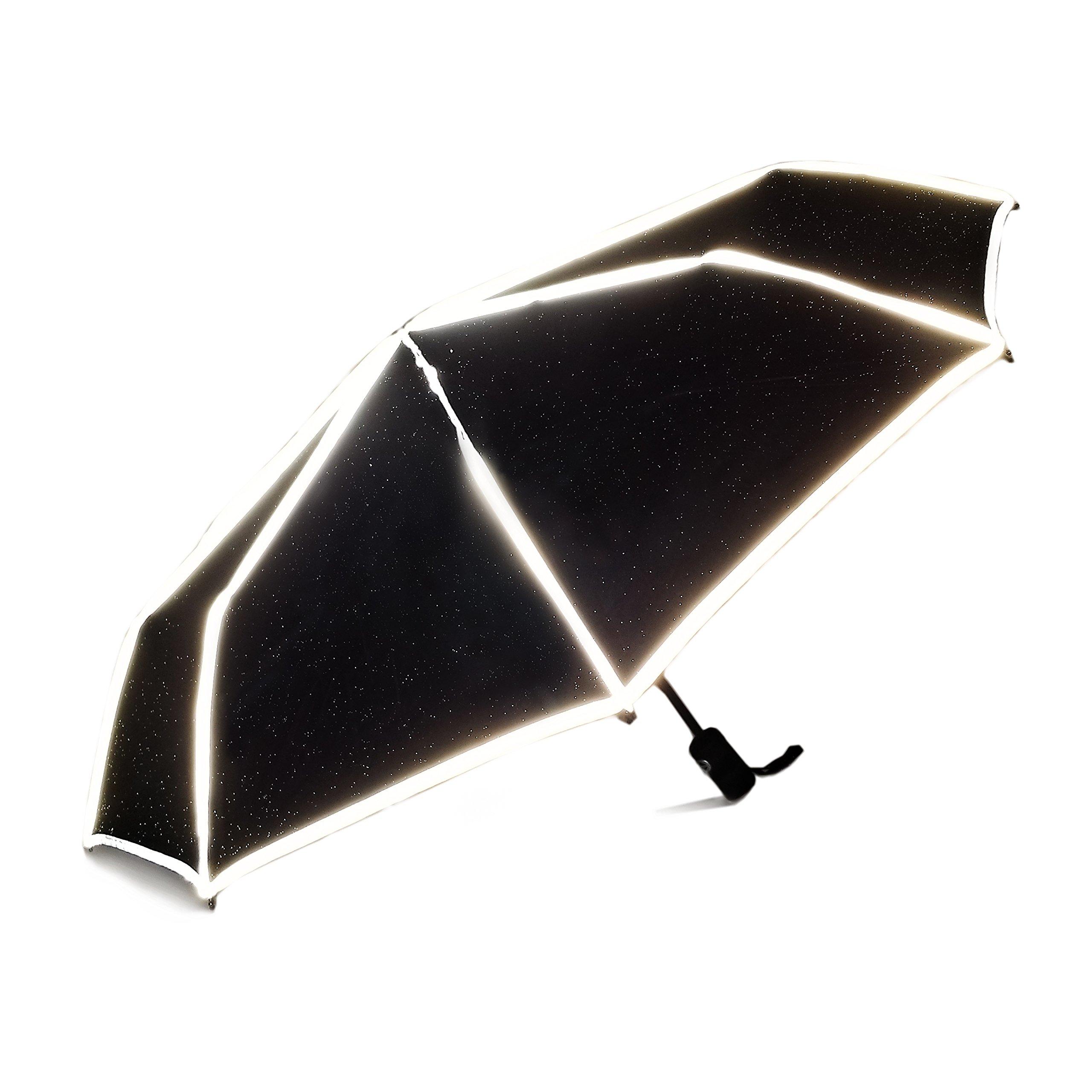 World's Smartest Reflective Compact Umbrella with patent-pending ReflectSafe design by ReflectSafe Umbrella