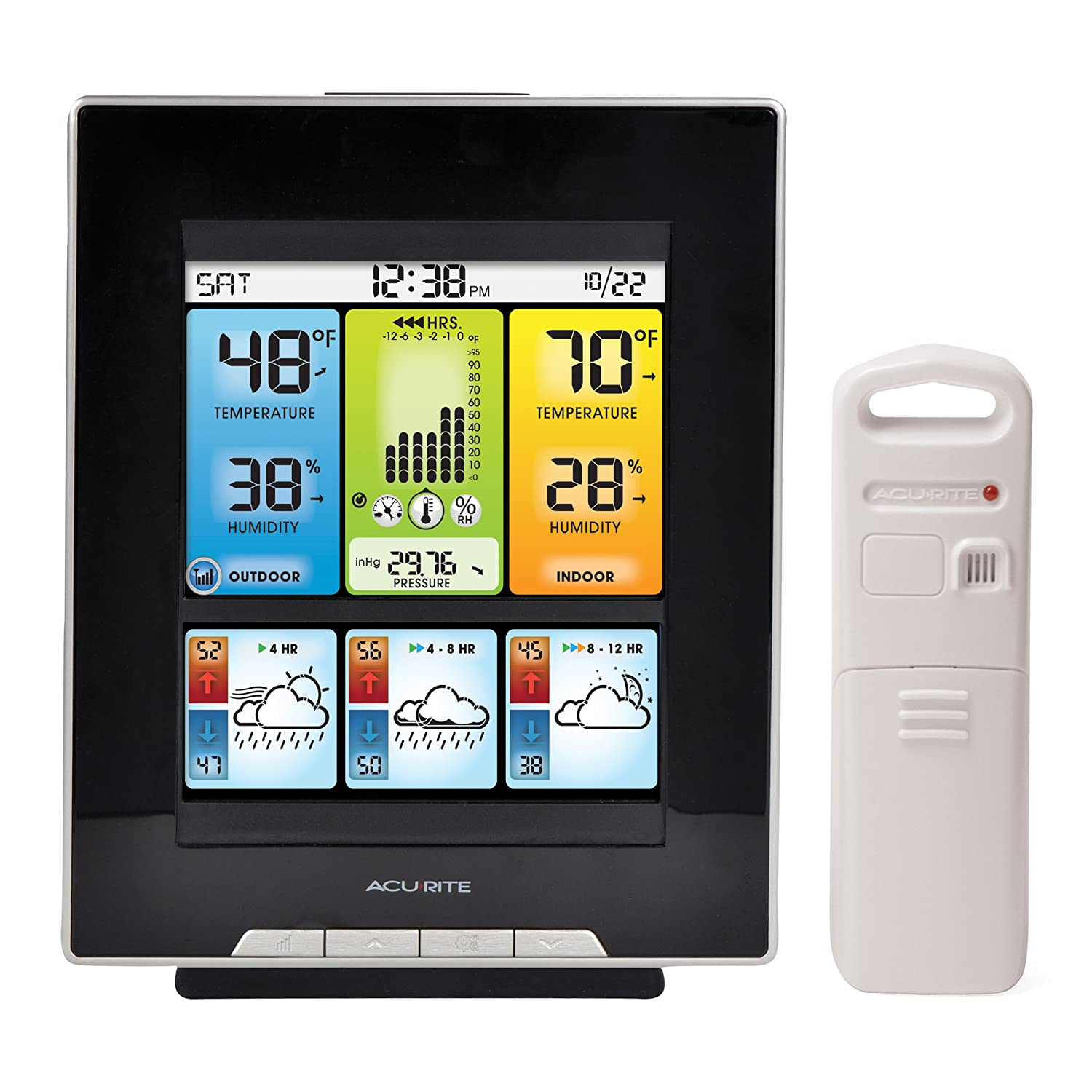 Amazon.com: AcuRite 02007 Digital Home Weather Station With Morning Noon  And Night Precision Forecast, Temperature And Humidity Gauge: Home U0026 Kitchen