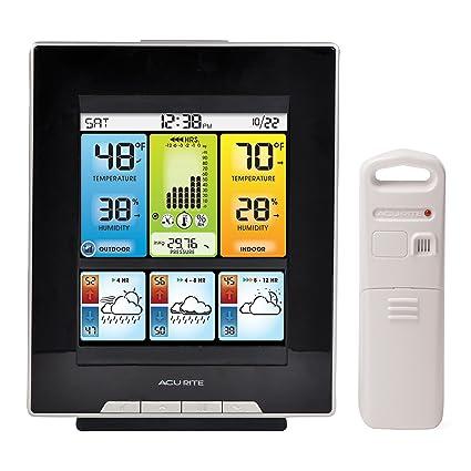 AcuRite Centro con mañana, mediodía y Noche precisión termómetro previsión meteorológica Digital de 02007