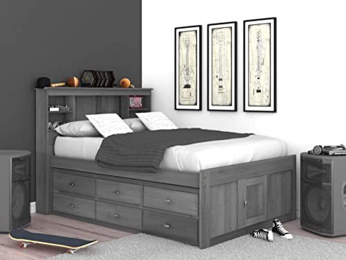 Discovery World Furniture Full Bookcase Bed
