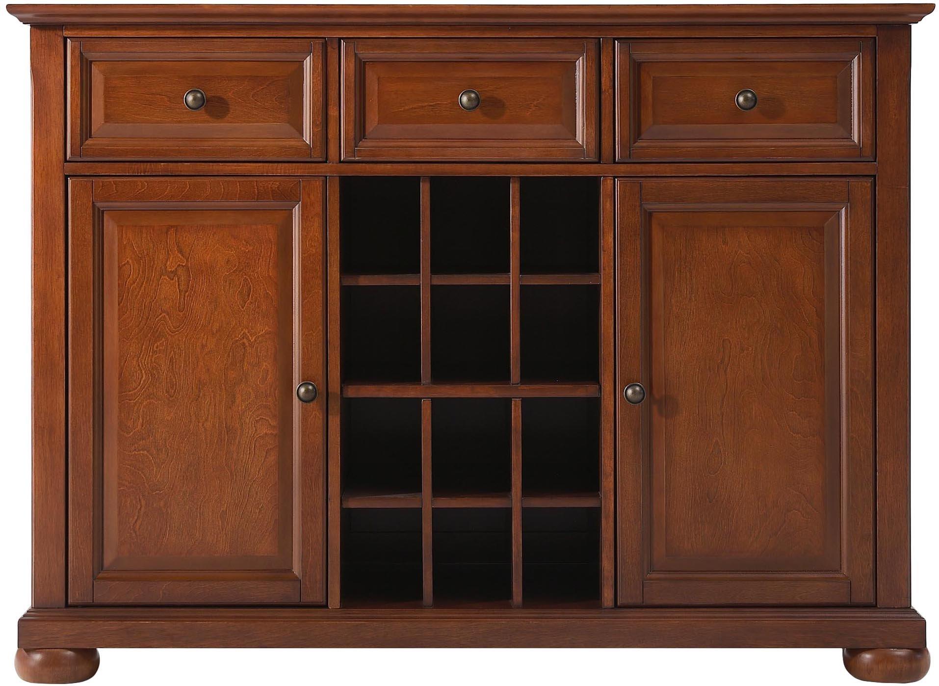 Crosley Furniture Alexandria Wine Buffet / Sideboard - Classic Cherry