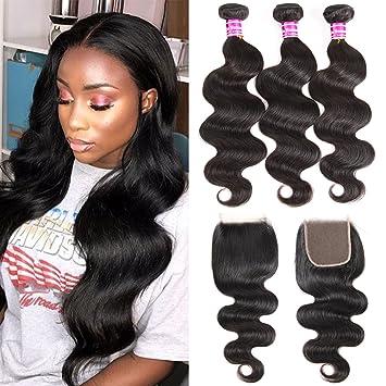 Amazon Com 10a Brazilian Virgin Hair Body Wave Bundles 14 16 18