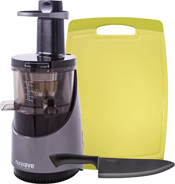 NUWAVE NUTRI-MASTER Slow Juicer with BPA-Free 16oz Tritan Juicing Bowl