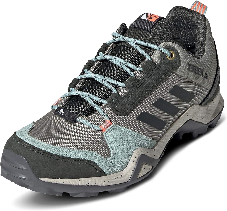 adidas Women's Terrex Ax3 Blue W Track Shoe, Feather Grey/Legend Earth/Green Tint