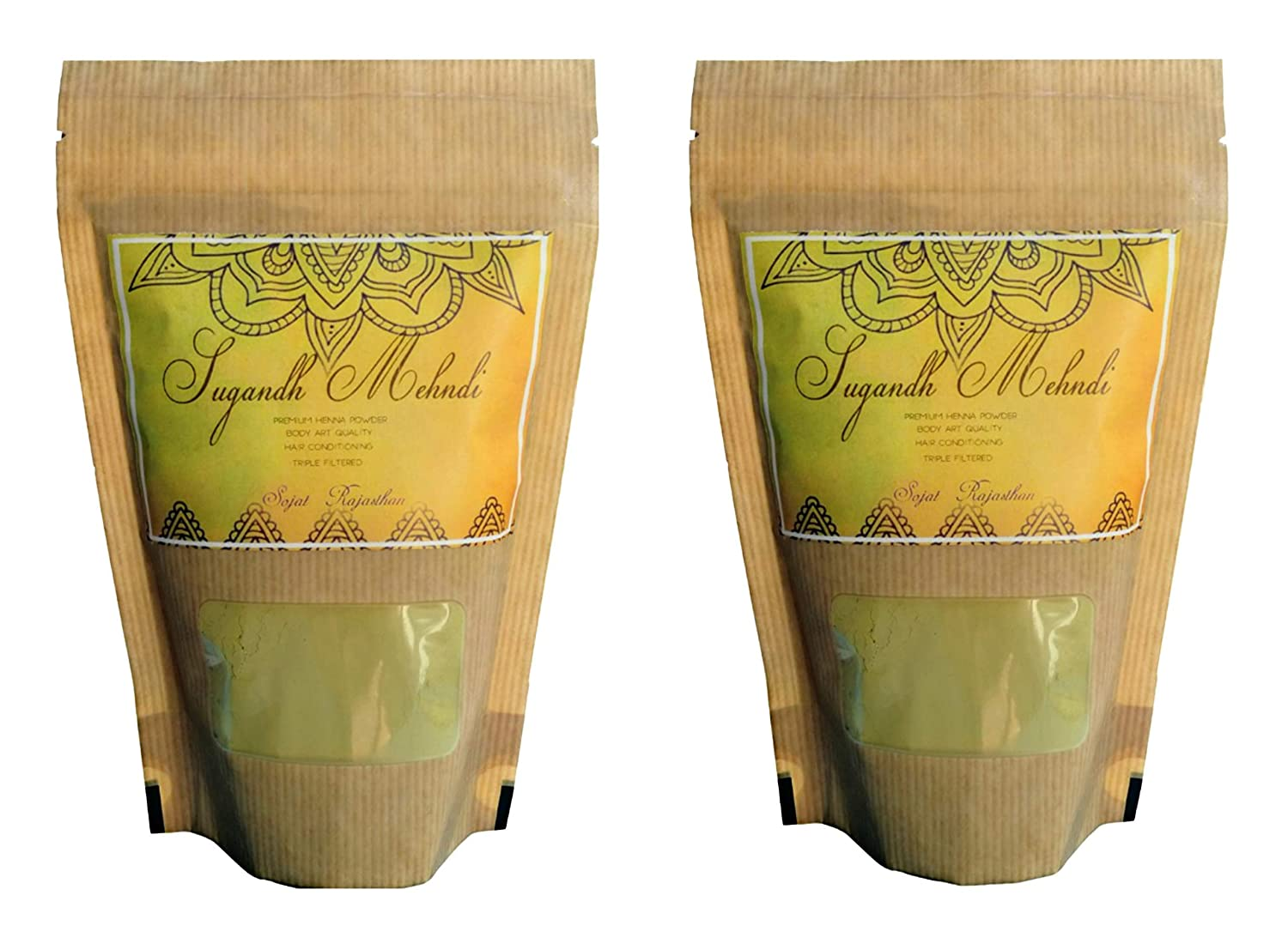 Buy Sugandh Mehndi Double Sifted Filtered Rajasthani Henna Powder For Body Art Hair Conditioning With Herbal Mixture 100g X2 Pack Of 2 Online At Low Prices In India Amazon In