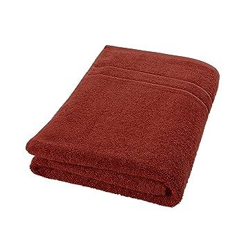 DECOLICIOUS - Toalla de baño 100% algodón Peinado - 550gr/m2 - Naranja Teja - 100x150 cm: Amazon.es: Hogar
