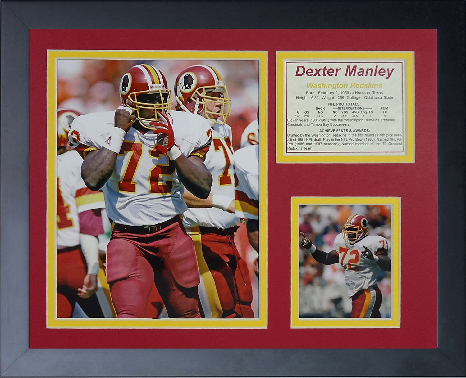 11 x 14-Inch Legends Never Die Dexter Manley Framed Photo Collage