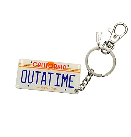 Back to the Future Metal Keychain Car Plate 7 cm Toys Keyrings