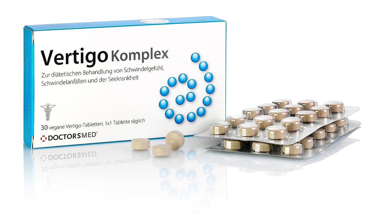 Vertigo Komplex Tabletten gegen Übelkeit, Reisekrankheit wie Seekrankheit oder Schwindel, und Schwindel ohne Befund