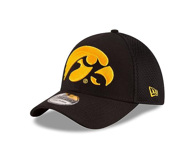 new style 01df9 1df12 NCAA Iowa Hawkeyes Men s Mega Team Neo Stretch Fit Cap, Black, Small Medium