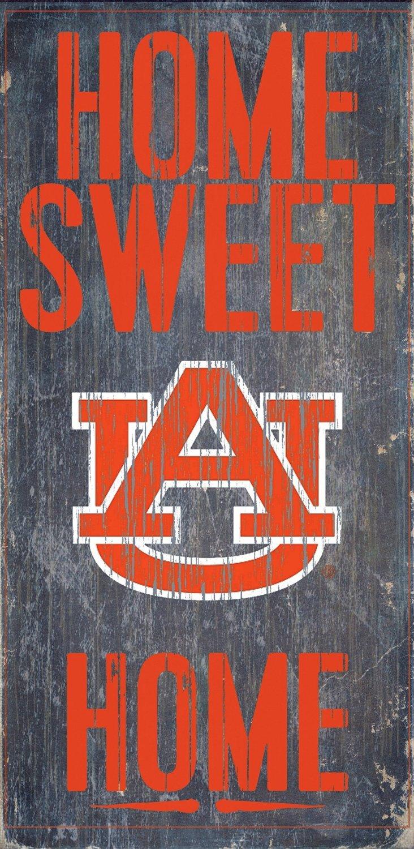"Fan Creations NCAA Auburn Tigers 6"" x 12"" Home Sweet Home Wood Sign"