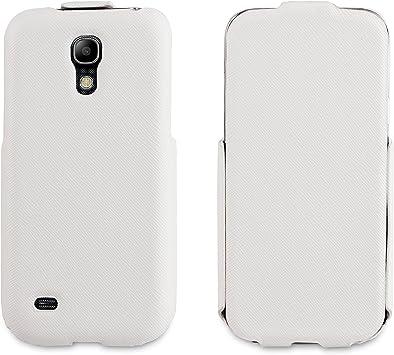 Muvit iFlip - Funda y protector de pantalla para Samsung Galaxy S4 Mini, blanco: Amazon.es: Electrónica