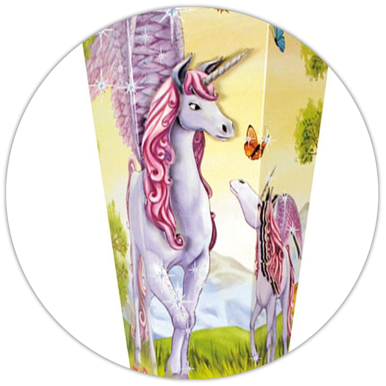 Alles-meine  GmbH GmbH GmbH 5 Stück _ Schultüten -  Einhorn - Pegasus   Pferd Unicorn  - 50 cm - rund - incl. Name und individueller Schleife - mit Tüllabschluß - Zuckertüte - mit   oh.. B07DWBCY3G | Nutzen Sie Materialien voll aus  | ein 35177c