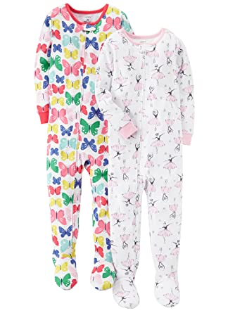 ba9bf832ec6f carter s Girls  2-Pack Cotton Pajamas  Amazon.in  Clothing   Accessories