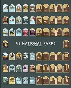 US National Parks Scratch Off Poster - 16