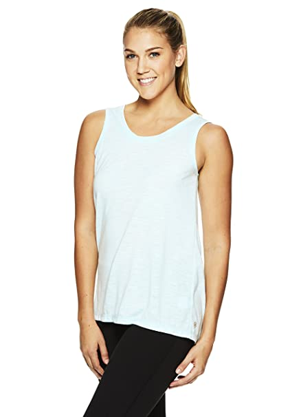 25d1a8efe688c Gaiam Women s Willa Strappy Racerback Tank Top - Open Back Yoga Shirt -  Island Paradise