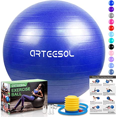 Anti Burst Elastic Exercise Ball with Pump Swiss Ball Gym Fitness Yoga Pilates