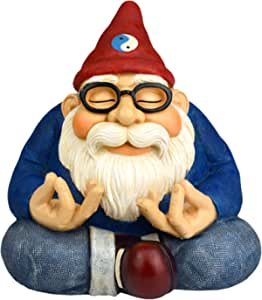 """Twig & Flower The Ohm Gnome - 8.5"""" Tall (Smiles and Serenity for Your Home Or Fairy Garden)"""