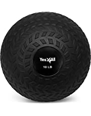 Yes4All Unisex-Adult Yes4All 10 lbs Slam Ball for Strength and Crossfit Workout – Slam Medicine Ball (10 lbs, Black) JLMS, Black