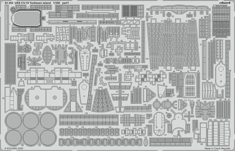 TRU Eduard EDP53252 Photoetch 1:350-USS CV-10 Yorktown Island