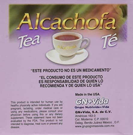 Amazon.com: MADE IN USA - NEW TEA Alcachofivida Box with 30 tea bags - NUEVO TEA Alcachofivida Caja Con 30 sobres de te: Health & Personal Care