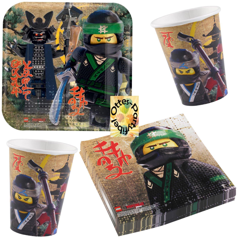 Teller Becher Servietten für 8 Kids Lego Batman Movie Partyset 36tlg