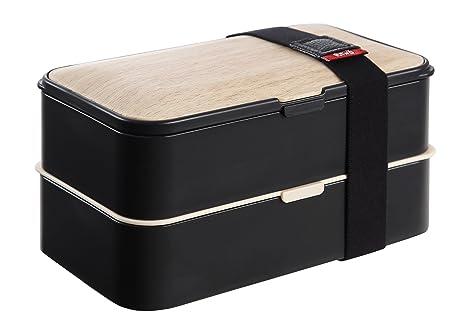 Amazon.com: PuTwo Bento Box – Fiambrera Estanca 2 pisos con ...