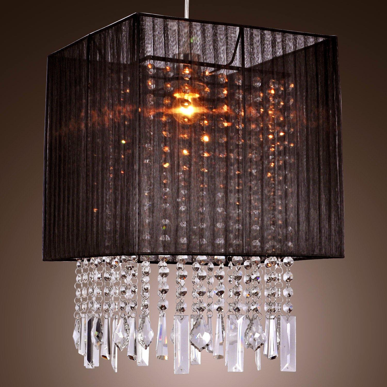 lightinthebox stylish pendant light with black fabric shade modern mini style ceiling light fixture for dining room bedroom living room voltage110v black fabric lighting