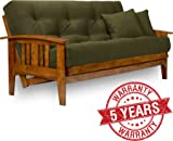 Medium image of westfield futon frame   queen size solid hardwood