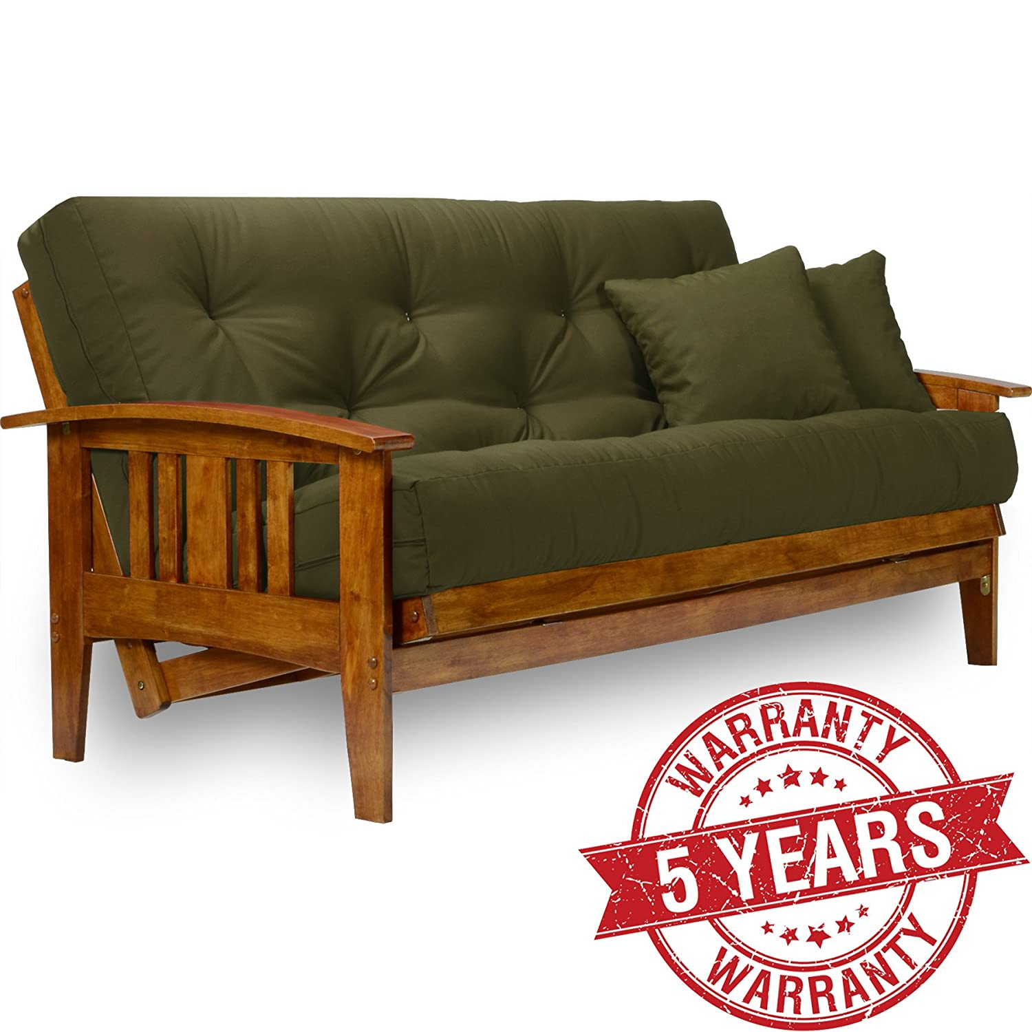 Amazon Westfield Futon Frame Queen Size Solid Hardwood