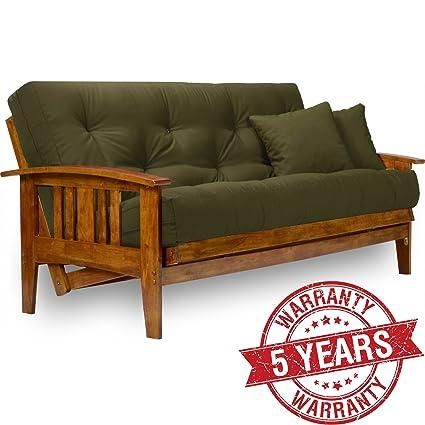 queen futon frame wood wall hugger amazoncom nirvana futons westfield futon frame queen size solid hardwood amazoncom