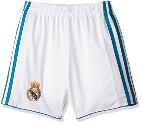 3a26c3ef1 Amazon.com : Real Madrid Home KIDS Shorts 2017 / 2018 : Sports ...
