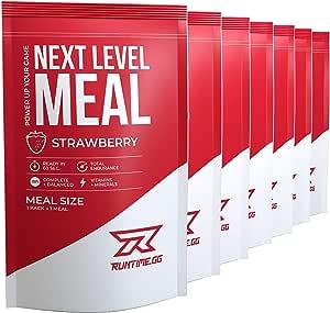 Runtime Meal 7x | Sustituto de las comidas que proporciona saciedad, energía, concentración | 25 vitaminas, minerales y nutrientes (Strawberry)